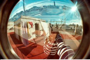 FishEye Double Exposure by AlFondoALaDerecha