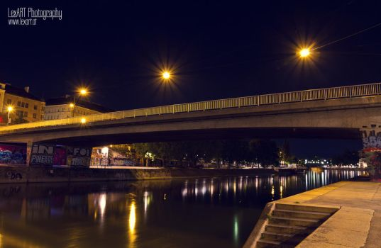 bridge at night by LexartPhotos