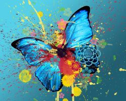 Butterfly Madness WAllpaper by rogueXunited