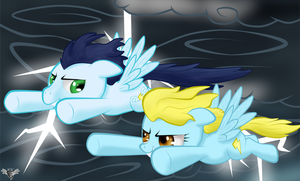 Gift Art: RitaMeetHerMaid: Chasing Lightning by WingWind