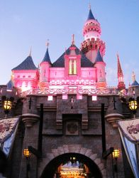 Sleeping Beauty's PINK Castle by instantpudding
