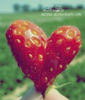 strawberry heart.. by nItzZa