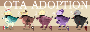 [CLOSED] OTA ADOPTABLES CHICKS by Trash-Muffin