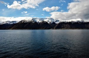 Snowly mountains from Sognefjord by Furuhashi335