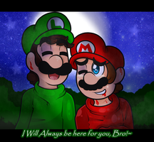 Art Trade Brotherly Love by Cookie-Luiginoid