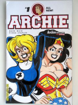 Betty and Veronica Archie color sketch cover by SSaruman
