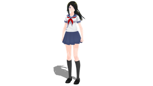 Yandere From ItsFunneh MMD dl by Creeperless