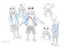 Sans sketches by Sandy06