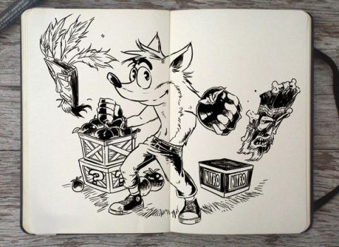 #301 Crash Bandicoot by Picolo-kun