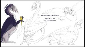 Glide-TaxWing Dragon Sketch page by Teggy