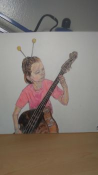 Girl playing Music by offman89