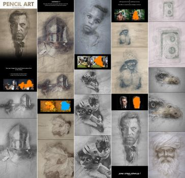 Pencil Art - Photoshop Action by GraphicAssets
