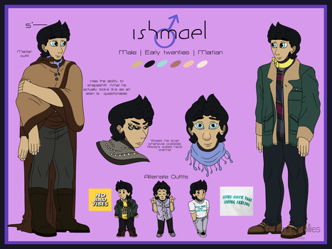 Ishmael Reference Sheet by EveningFollies