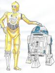 C3PO and R2D2 by NadAlei
