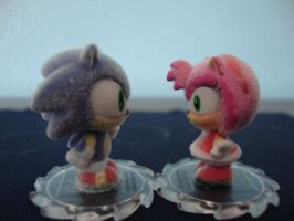 Chibi Sonic and Amy by 6SeaCat9