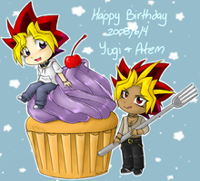 YGO- Happy Belated Birthday by EvilChibiNic