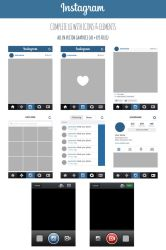 FREE Instagram Complete Vector UI by MarinaD