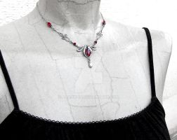 Red Victorian Necklace by Aranwen