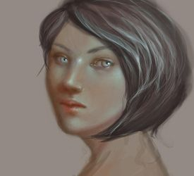 Short-haired lady by Ciuva