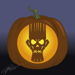 Halloween Pumpkin Pattern: Voodoo Head by Laffler