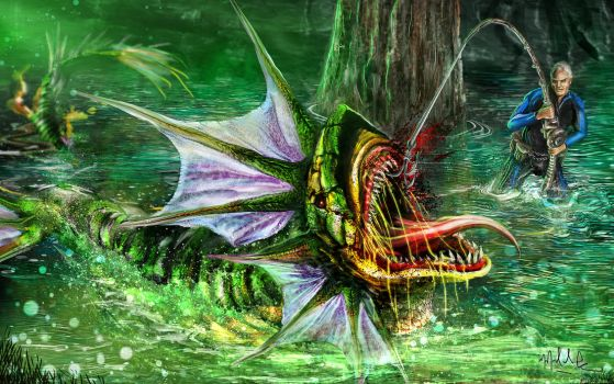River Monster Hunter by miccasso