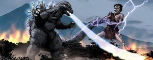 Frankenstein vs Godzilla by Fourgreen