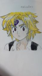 Meliodas fan art by Nali-kun