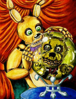 Spring Bonnie sees his future as Springtrap by MugenPlanetX