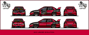 HKS Lancer evolution Pixelcar. by JacobKuiper