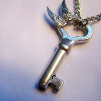 Flying Clock Key Necklace by SteamSociety