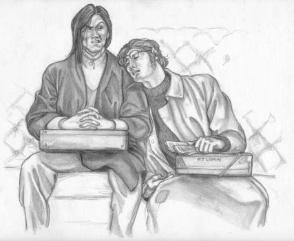 Snape and Narcoleptic Werewolf by NicoPony