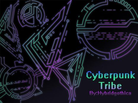 Cyberpunk Tribe Brushes. by hybridgothica