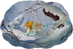 winter struggles by red-anteater