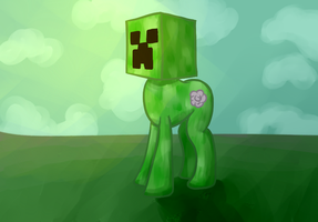 Creeper Pone by DarkFlame75