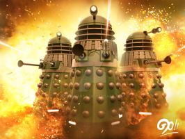 Dalek Wallpaper by ginovanta