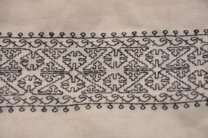 Blackwork Collar by VickitoriaEmbroidery