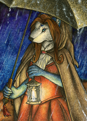 ACEO/ATC: Returning Home by Samantha-dragon