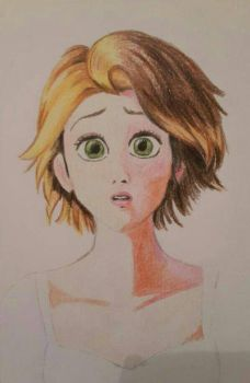 tangled fan art unfinished by vero252