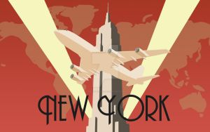 Art Deco poster New York by audoman2607