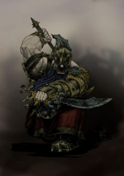 Chaos Dwarf Zealot Berzerker (base color scheme) by KnightInFlames