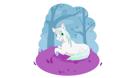 The Grass Is Purpler On The Unicorn Side by Terriere