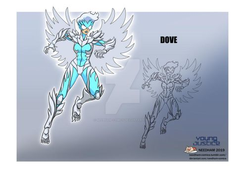 Young Justice Dove Character Design