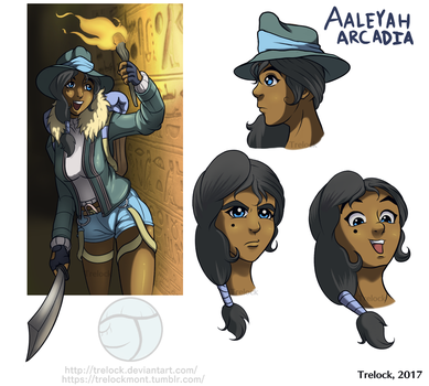 OC: Aaleyah Arcadia Reference Sheet #1 by Trelock