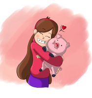 Mabel and Waddles by PikaShep