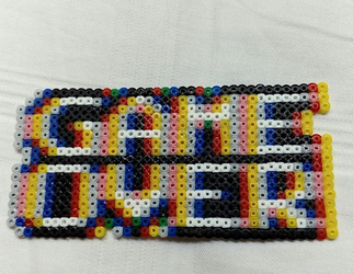 GAME OVER in Hama beads by Byakko92