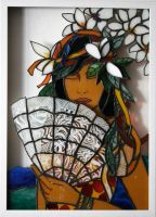 The Lace Fan- Tahiti by cicique