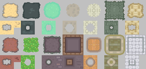 HGSS Tileset_Terrain and Paths by ThunderDove