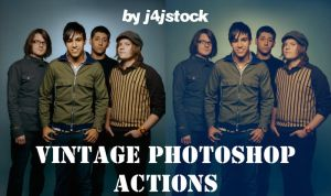 photoshop action: vintage by j4jstock