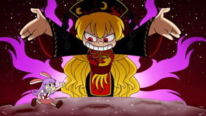 Touhou 15 but it is in Cuphead Style by aimturein