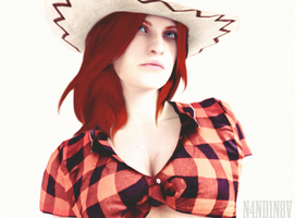 I'm a cowgirl - Claire Redfield by n4nd1n8v